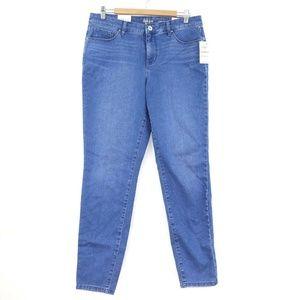 Style & Co 12L  Blue Curvy Skinny Leg Jeans 6AS60